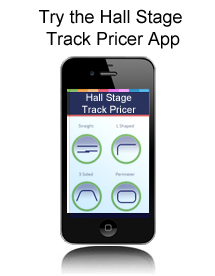 Try the new Hall Stage Track Pricer App for Android & iOS